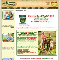 Survival Seeds Vault