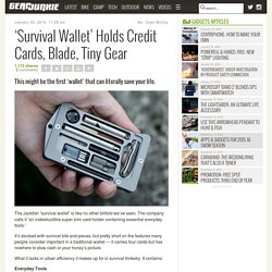 'Survival Wallet' Holds Credit Cards, Blade, Tiny Gear – Gear Junkie