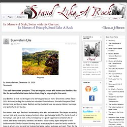 Survivalism Lite » Stand Like A Rock