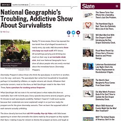 2012 Doomsday Preppers on National Geographic: Is the survivalist reality show exploitative?