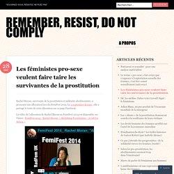 Les féministes pro-sexe veulent faire taire les survivantes de la prostitution