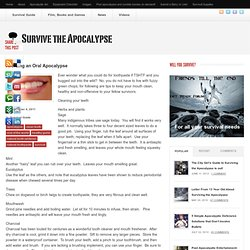 How to Survive The Apocalypse » Avoiding an Oral Apocalypse