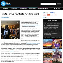How to survive your first networking event