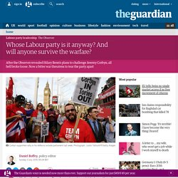Whose Labour party is it anyway? And will anyone survive the warfare?