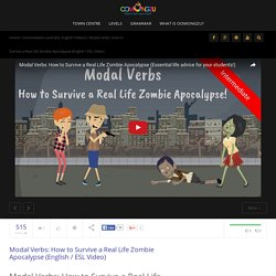 Modal Verbs: How to Survive a Real Life Zombie Apocalypse (ESL Video)