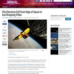 iPad Survives Fall From Edge of Space in Jaw-Dropping Video