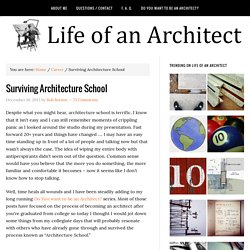Surviving Architecture School