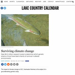 Surviving climate change - Lake Country Calendar