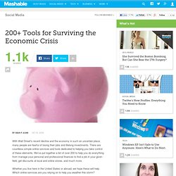 200+ Tools for Surviving the Economic Crisis