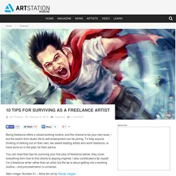 10 tips for surviving as a freelance artist
