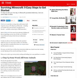 Surviving Minecraft: 9 Easy Steps to Get Started