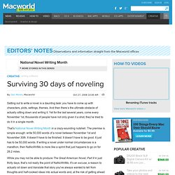 Surviving 30 days of noveling
