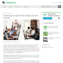 Surviving the Open Office (Really, It's Not So Bad)