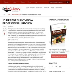 10 Tips For Surviving A Professional Kitchen