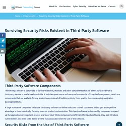 Surviving Security Risks Existent in Third-Party Software