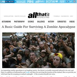 A Basic Guide For Surviving A Zombie Apocalypse - All That Is Interesting