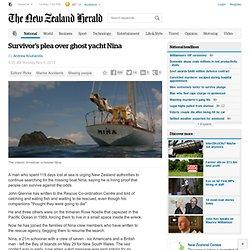 Survivor's plea over ghost yacht Nina