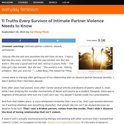 11 Truths Every Survivor of Intimate Partner Violence Needs to Know
