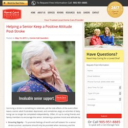 Helping Elderly Stroke Survivors Maintain a Positive Attitude