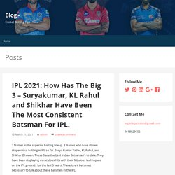 IPL 2021: How Has The Big 3 – Suryakumar, KL Rahul and Shikhar Have Been The Most Consistent Batsman For IPL.