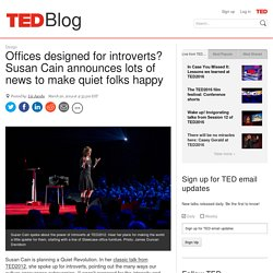 Susan Cain announces news to make introverts happy