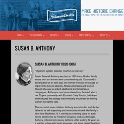 Susan B. Anthony - Women on 20s
