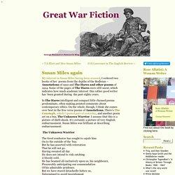 Susan Miles again « Great War Fiction