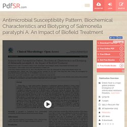 Impact of Biofield treatment on Salmonella Paratyphi