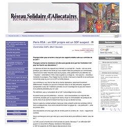 Paris RSA : un SDF propre est un SDF suspect - [Collectif RTO]