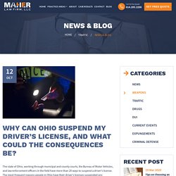 Why Ohio Suspend My Driver's License and What Consequences Be?