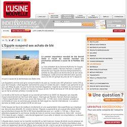 L'Egypte suspend ses achats de blé