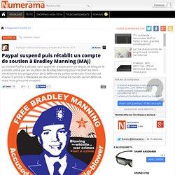 Paypal suspend un compte de soutien à Bradley Manning