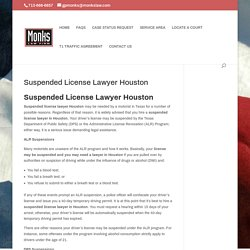 Suspended License Lawyer Houston