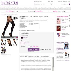 Henry Holland for Pretty Polly Super Suspender Tights - Pretty Polly - MyTights.com - The Online Hosiery Store