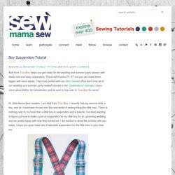 Boy Suspenders Tutorial