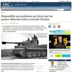 Francia - Suspendida una profesora por decir que los panzer deberían volver a invadir Francia