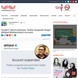 Couldn't Take It Anymore, Twitter Suspends Singer Abhijeet Bhattacharya's Account