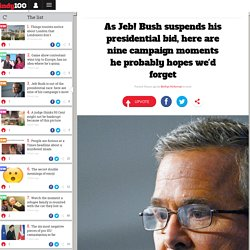 As Jeb! Bush suspends his presidential bid, here are nine campaign moments he probably hopes we'd forget
