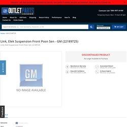 Link, Elek Suspension Front Posn Sen 22189725