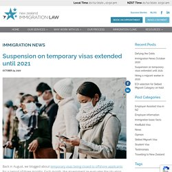 Suspension on temporary visas extended until 2021
