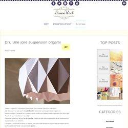DIY, Une jolie suspension origami