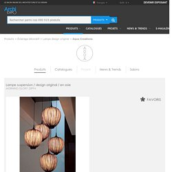 Lampe suspension / design original / en soie - MORNING GLORY: DIPPA - Aqua Creations