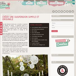 Créer une suspension simple et originale