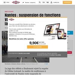Nantes: suspension de fonctions validée pour le sociologue opposé à la loi ORE