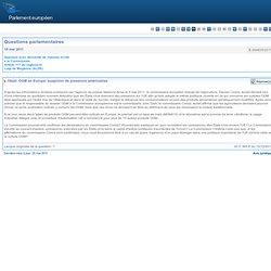 OGM en Europe: suspicion de pressions américaines - E-004835/2011