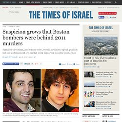 Suspicion grows that Boston bombers were behind 2011 murders