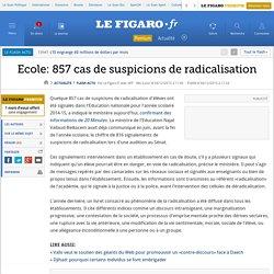 Ecole: 857 cas de suspicions de radicalisation