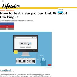 How to Test a Suspicious Link Without Clicking it