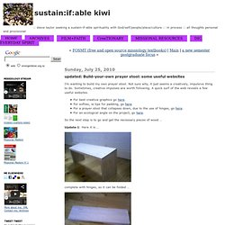 sustain:if:able kiwi » updated: Build-your-own prayer stool: some useful websites
