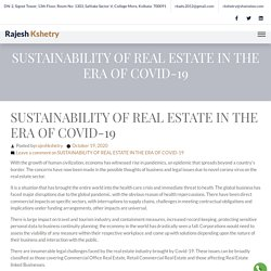 SUSTAINABILITY OF REAL ESTATE IN THE ERA OF COVID-19